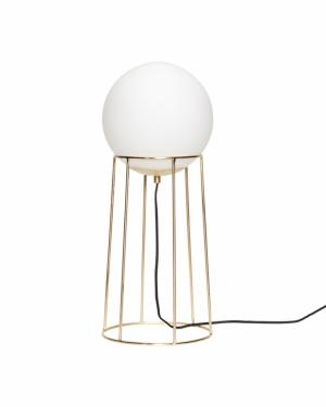 Golvlampa mässing/vit från Hübsch.